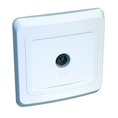 Lexel Этюд розетка TV, оконечная 0,7 ДБ белый (скр.устан.) (TVA-002b)Белый<br><br><br>Оттенок (цвет): белый