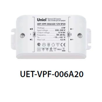 Блок питания UNIEL UET-VPF-006A20 12V IP20Трансформаторы 220/12<br><br>