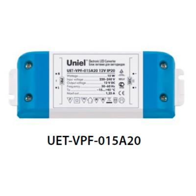 Блок питания UNIEL UET-VPF-015A20 12V IP20Трансформаторы 220/12<br><br>