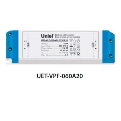 Блок питания UNIEL UET-VPF-060A20 12V IP20Трансформаторы 220/12<br><br>