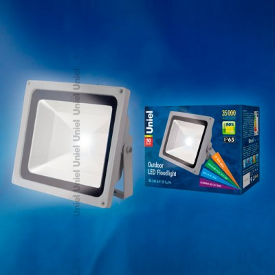 Светильник UNIEL ULF-S01-50W/NW IP65 110-240В картонCветодиодные<br><br><br>Тип товара: Светильник<br>Цветовая t, К: 4000<br>Тип лампы: LED<br>Ширина, мм: 285<br>MAX мощность ламп, Вт: 50<br>Длина, мм: 235<br>Высота, мм: 150