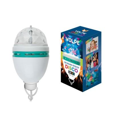 Гирлянда UNIEL ULI-Q303 2,5W/RGB WHITEГирлянды новогодние<br>Светодиодные светильники-проекторы VOLPE серии DISCO предназначены для оформления дискотек, танцевальных вечеров. Удобно использовать в клубах, барах, ресторанах. Также можно организовать замечательный праздник для детей и взрослых в домашней обстановке.<br> Светодиодный светильник-проектор  ULI-Q303 2,5W/RGB WHITE предназначен для подвесного монтажа, имеет кабель с вилкой и рассчитан на напряжение 220В.<br><br>    Технические характеристики: <br><br><br><br><br>      <br><br><br><br><br>            Входное напряжение, В           <br><br>            220          <br><br><br><br>            Гарантийный талон           <br><br>            Да          <br><br><br><br>            Диапазон рабочих температур, °С           <br><br>            От 0 до +45С          <br><br><br><br>            Класс защиты, IP           <br><br>            20          <br><br><br><br>            Материал корпуса           <br><br>            пластик          <br><br><br><br>            Срок гарантии           <br><br>            6 месяцев          <br><br><br><br>            Тип индивидуальной упаковки           <br><br>            коробка          <br><br><br><br>            Цвет изделия           <br><br>            белый          <br><br><br><br>            Применяемая лампа           <br><br>            светодиод<br>