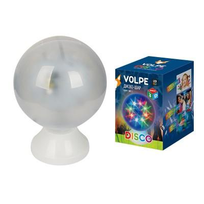 Гирлянда UNIEL ULI-Q307 4,5W/RGB WHITEГирлянды новогодние<br>Светодиодные светильники-проекторы VOLPE серии DISCO предназначены для оформления дискотек, танцевальных вечеров. Удобно использовать в клубах, барах, ресторанах. Также можно организовать замечательный праздник для детей и взрослых в домашней обстановке.<br> Светодиодный светильник-проектор напольный ULI-Q307 имеет кабель с вилкой и рассчитан на напряжение 220В.<br>Технические характеристики:     <br>        <br>  <br>  <br>      <br>      <br>       <br>          <br><br><br><br><br>            Входное напряжение, В           <br><br>            220          <br><br><br><br>            Гарантийный талон           <br><br>            Да          <br><br><br><br>            Диапазон рабочих температур, °С           <br><br>            От 0 до +45С          <br><br><br><br>            Класс защиты, IP           <br><br>            20          <br><br><br><br>            Материал корпуса           <br><br>            пластик          <br><br><br><br>            Срок гарантии           <br><br>            6 месяцев          <br><br><br><br>            Тип индивидуальной упаковки           <br><br>            коробка          <br><br><br><br>            Цвет изделия           <br>белый<br><br><br><br>            Применяемая лампа           <br><br>            светодиод<br>