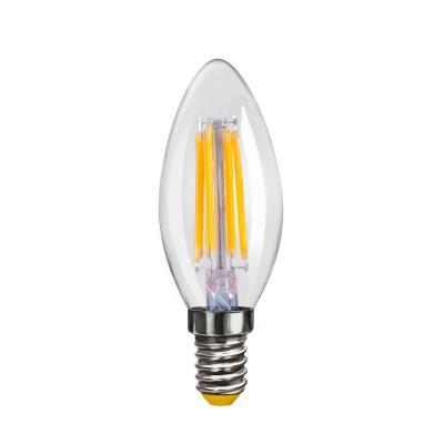 Светодиодная лампа Voltega VG10-C1E14warm4W-FЛампы светодиодные LED в виде свечи для хрустальных люстр<br>Дизайнеры рекомендуют покупать для домашнего освещениялампу светодиодную Свеча, Ваттность 4W, Цоколь Е14, Цветовая температура 2800К, VG10-C1E14warm4W-F ведь она не только эстетически акуратно выглядит, но и выдает достаточно высокий КПД светового потока!<br><br>Цветовая t, К: WW - теплый белый 2700-3000 К (2800)<br>Тип лампы: LED - светодиодная<br>Тип цоколя: E14<br>Диаметр, мм мм: 35<br>Высота, мм: 95<br>MAX мощность ламп, Вт: 4