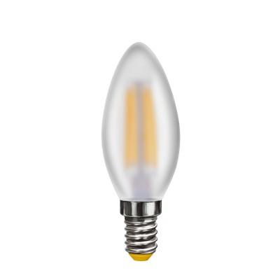 Светодиодная лампа Voltega VG10-C2E14warm4W-FВ виде свечи<br>Дизайнеры рекомендуют покупать для домашнего освещениялампу светодиодную Свеча матовая, Ваттность 4W, Цоколь Е14, Цветовая температура 2800К, VG10-C2E14warm4W-F ведь она не только эстетически акуратно выглядит, но и выдает достаточно высокий КПД светового потока!<br><br>Тип лампы: LED - светодиодная<br>Тип цоколя: E14<br>Диаметр, мм мм: 35<br>Высота, мм: 95