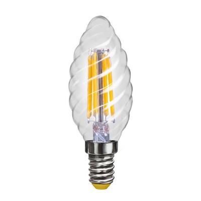 Лампочка светодиодная VG10-CC1E14warm4W-F VoltegaВ виде свечи<br><br><br>Цветовая t, К: 2800K<br>Тип цоколя: E14<br>MAX мощность ламп, Вт: 4