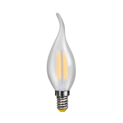 Светодиодная лампа Voltega VG10-CW2E14warm4W-FВ виде свечи<br>Дизайнеры рекомендуют покупать для домашнего освещениялампу светодиодную Свеча на ветру матовая, Ваттность 4W, Цоколь Е14, Цветовая температура 2800К, VG10-CW2E14warm4W-F ведь она не только эстетически акуратно выглядит, но и выдает достаточно высокий КПД светового потока!<br><br>Тип лампы: LED - светодиодная<br>Тип цоколя: E14<br>Диаметр, мм мм: 35<br>Высота, мм: 121