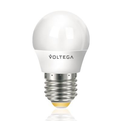 Лампа светодиодная шар 5.4W Е27 2800К VG4-G2E27warm5WВ виде шарика<br>Дизайнеры рекомендуют покупать для домашнего освещениялампу светодиодную Шар, Ваттность 5,4W, Цоколь Е27, Цветовая температура 2800К, VG4-G2E27warm5W ведь она не только эстетически акуратно выглядит, но и выдает достаточно высокий КПД светового потока!<br><br>Цветовая t, К: WW - теплый белый 2700-3000 К<br>Тип лампы: LED - светодиодная<br>Тип цоколя: E27<br>Диаметр, мм мм: 45<br>Длина, мм: 75<br>Высота, мм: 83<br>MAX мощность ламп, Вт: 5,4