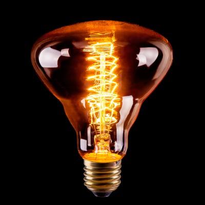 Лампа Эдисона накал Voltega VG6-BR30A5-60WЛампы накаливания ретро стиля<br>Дизайнеры рекомендуют покупать для домашнего освещения - Лампа винтажная Рефлектор, BR30 (Янтарь пружинка), Ваттность 60W, Цоколь Е27, VG6-BR30A5-60W ведь она не только эстетически акуратно выглядит, но и выдает достаточно высокий КПД светового потока!<br><br>Цветовая t, К: 2200K<br>Тип лампы: накаливания<br>Тип цоколя: E27<br>Диаметр, мм мм: 95<br>Высота, мм: 125<br>MAX мощность ламп, Вт: 60