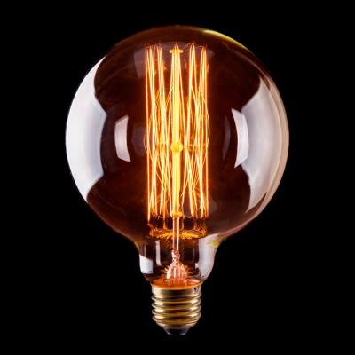 Лампа Voltega VG6-G125A1-40WРетро лампы<br>Дизайнеры рекомендуют покупать для домашнего освещения - Лампа винтажная Шар, G125 (Янтарь нити), Ваттность 40W, Цоколь Е27, VG6-G125A1-40W ведь она не только эстетически акуратно выглядит, но и выдает достаточно высокий КПД светового потока!<br><br>Тип лампы: накаливания<br>Тип цоколя: E27<br>MAX мощность ламп, Вт: 40<br>Диаметр, мм мм: 125<br>Высота, мм: 170