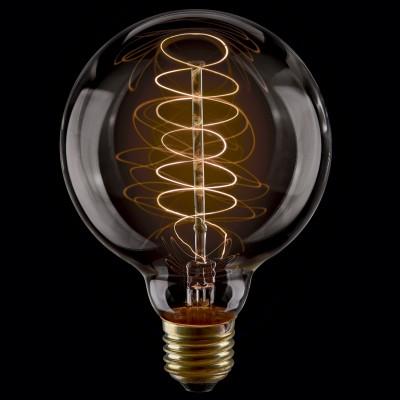 Лампа накаливания ретро G80 80*117 пружинка VG6-G80A2-40WРетро лампы<br>Дизайнеры рекомендуют покупать для домашнего освещения - Лампа винтажная Шар, G80 (Янтарь пружинка), Ваттность 40W, Цоколь Е27, VG6-G80A2-40W ведь она не только эстетически акуратно выглядит, но и выдает достаточно высокий КПД светового потока!<br><br>Цветовая t, К: WW - теплый белый 2700-3000 К<br>Тип лампы: накаливания<br>Тип цоколя: E27<br>Диаметр, мм мм: 80<br>Высота, мм: 117<br>MAX мощность ламп, Вт: 40