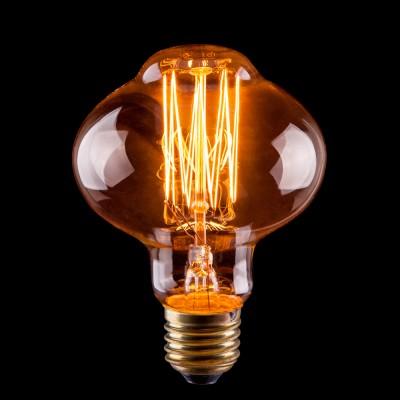 Светодиодная лампа Voltega VG6-L85A1-60WРетро лампы<br>Дизайнеры рекомендуют покупать для домашнего освещения - Лампа винтажная Лампада, L85 (Янтарь нити), Ваттность 60W, Цоколь Е27, VG6-L85A1-60W ведь она не только эстетически акуратно выглядит, но и выдает достаточно высокий КПД светового потока!<br><br>Тип лампы: накаливания<br>Тип цоколя: E27<br>MAX мощность ламп, Вт: 60<br>Диаметр, мм мм: 85<br>Высота, мм: 120