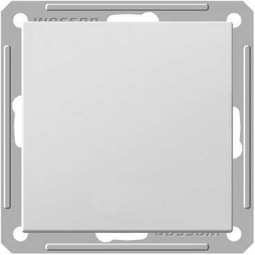 Выключатель Wessen 59 одноклавишный матовый хром (самовозратный) (VS116-155-5-86)Мат хром<br>250В, 16АХ, скрытой установки, без рамки<br><br>Оттенок (цвет): серебристый