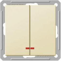 Выключатель Wessen 59 с/у без рамки 2КЛ.С индик. (250В, 16АХ) слоновая кость (VS516-251-2-86)Слоновая кость<br><br><br>Оттенок (цвет): бежевый