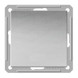Переключатель Wessen 59 одноклавишный матовый хром (VS716-158-5-86)Мат хром<br>250В, 16АХ, скрытой установки, без рамки<br><br>Оттенок (цвет): серебристый