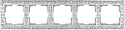 Купить со скидкой Рамка на 5 постов (жемчужный) WL07-Frame-05 Werkel