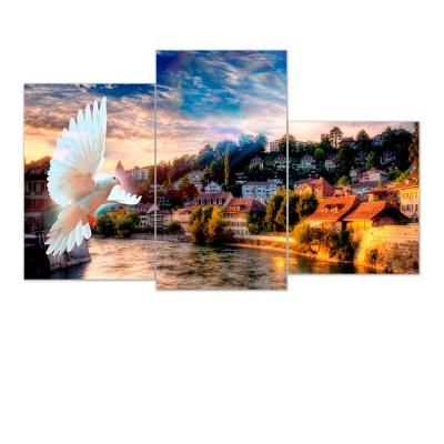 Модульная картина мини XT-012 ToppostersМодульные картины<br>Изображение состоит из трех частей 30х35, 30х45 и 30х55, общий размер 55х94 см. Состав: Холст, подрамник из МДФ. Упаковка: Защитные уголки и термоусадочная пленка, размер 56х31х7 см. Крепление в комплекте. Вес: 1,3 кг.<br><br>Тип товара: Модульная картина