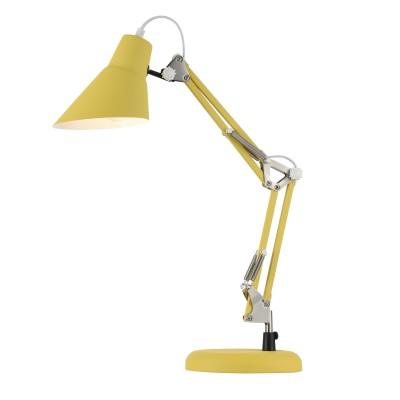 Настольная лампа Maytoni Z136-TL-01-YL Zeppoофисные настольные лампы<br><br><br>Тип лампы: Накаливания / энергосбережения / светодиодная<br>Тип цоколя: E27<br>Цвет арматуры: Жёлтый<br>Количество ламп: 1<br>Ширина, мм: 185<br>Глубина, мм: 440<br>Высота, мм: 500<br>MAX мощность ламп, Вт: 40