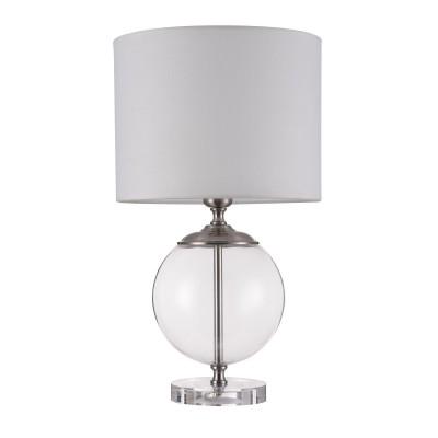 Настольная лампа Maytoni Z533TL-01N Lowell Table  Floorнастольные лампы лофт<br><br><br>Тип лампы: Накаливания / энергосбережения / светодиодная<br>Тип цоколя: E27<br>Цвет арматуры: серебристый/прозрачный<br>Количество ламп: 1<br>Диаметр, мм мм: 300<br>Высота, мм: 520<br>Поверхность арматуры: блестящая<br>Оттенок (цвет): серебристый<br>MAX мощность ламп, Вт: 40