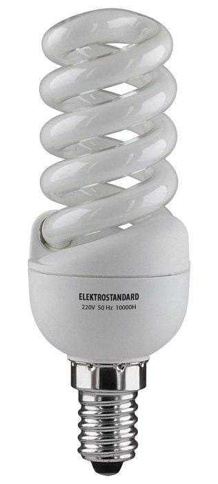 Мини-спираль E14 15 Вт 2700K Электростандарт Энергосберегающая лампаСпиральные энергосберегающие лампы<br>Ватт         Цоколь         Цвет         Люмены         мм         - мм       <br><br><br>15<br>E14<br>2700K<br>750<br>120<br>36<br><br><br><br> Питание 220 В, 50 Гц.  Ресурс 10 000 ч. Упаковка 50 шт.<br><br>Цветовая t, К: 2700<br>Тип лампы: Энергосбережения<br>Тип цоколя: E14<br>Диаметр, мм мм: 36<br>Высота, мм: 120<br>MAX мощность ламп, Вт: 15