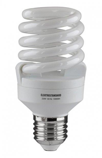 Компактный винт FS, укороченный E27 20 Вт 2700K Электростандарт Энергосберегающая лампаСпиральные<br>Ватт         Цоколь         Цвет         Люмены         мм         - мм       <br><br><br>20<br>E27<br>2700K<br>1100<br>109<br>54<br><br><br><br> Питание 220 В, 50 Гц.  Ресурс 10 000 ч. Упаковка 50 шт.<br><br>Цветовая t, К: 2700<br>Тип лампы: Энергосбережения<br>Тип цоколя: E27<br>Диаметр, мм мм: 54<br>Высота, мм: 109<br>MAX мощность ламп, Вт: 20