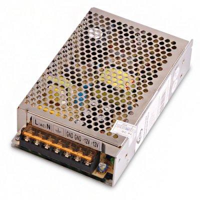 60W 12V IP00 Электростандарт Трансформатор для светодиодной лентыБлок питания для светодиодной ленты<br>Технические характеристики: Макс. мощность: 60 Вт U вх.: AC 220 В, 50 Гц U вых.: DC 12 В I вых.: 5 А Размер: 160 х 98 х  42 мм  Класс энергоэффективности: А Рабочая температура: от – 20° до + 60 °C Гарантийный срок: 1 год Срок службы: 10 лет<br>