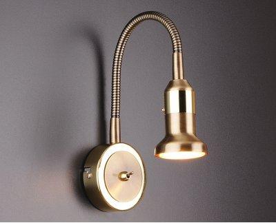 Plica 1215 бронза / золото Электростандарт Подсветка галогеннаяСветильники на гибкой ножке<br>Настенный светильник Elektrostandard™ предназначен для дополнительного освещения и для декоративной подсветки предметов интерьера. Корпус светильника выполнен из металла с гальваническим покрытием. Гибкий держатель плафона позволяет корректировать акцент освещения, тем самым расширяет область применения светильника. На корпусе светильника расположен компактный выключатель. Универсальная конструкция светильника позволяет использовать его для подсветки предметов интерьера и мебели. Тип лампы: MR16 40 Вт Питание: 220 В / 50 Гц Размер: 445 х 80 х 52 мм<br><br>Тип цоколя: GU5.3<br>Ширина, мм: 80<br>Длина, мм: 52<br>Высота, мм: 445<br>MAX мощность ламп, Вт: 40