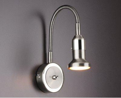 Plica 1215 сатинированный никель / хром Электростандарт Подсветка галогеннаяГибкие<br>Настенный светильник Elektrostandard™ предназначен для дополнительного освещения и для декоративной подсветки предметов интерьера. Корпус светильника выполнен из металла с гальваническим покрытием. Гибкий держатель плафона позволяет корректировать акцент освещения, тем самым расширяет область применения светильника. На корпусе светильника расположен компактный выключатель. Универсальная конструкция светильника позволяет использовать его для подсветки предметов интерьера и мебели. Тип лампы: MR16 40 Вт Питание: 220 В / 50 Гц Размер: 445 х 80 х 52 мм<br><br>Тип лампы: галогенная/LED<br>Тип цоколя: GU5.3<br>Ширина, мм: 80<br>Длина, мм: 52<br>Высота, мм: 445<br>MAX мощность ламп, Вт: 40