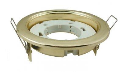 HM GX53 золото (GL) Электростандарт Встраиваемый светильник с цоколем GX53Круглые<br>Диаметр: ? 100 мм Высота внутренней части: ? 38 мм Высота внешней части: ? 6 мм Монтажное отверстие: ? 90 мм Гарантия: 2 года Соединительный провод и клеммы в комплекте. Лампа не входит в комплект светильника.<br><br>Тип цоколя: GX53<br>Диаметр, мм мм: 100<br>Диаметр врезного отверстия, мм: 90<br>Высота, мм: 6<br>MAX мощность ламп, Вт: 13