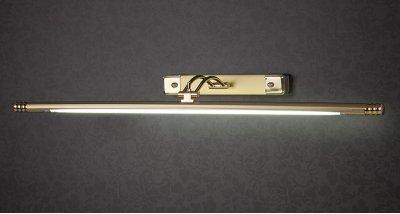 885 20 Вт золото матовое Электростандарт Подсветка для картин и зеркалДля картин<br>Лампа T4 в комплекте Питание: 220 В / 50 Гц Размер: 665 х 170 х 50 мм Упаковка: 12 шт.<br><br>Тип лампы: люминесцентная<br>Тип цоколя: T4<br>Ширина, мм: 665<br>Расстояние от стены, мм: 170<br>Высота, мм: 50<br>MAX мощность ламп, Вт: 20