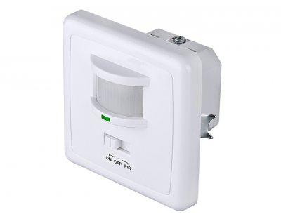 SNS M 01 Электростандарт Датчик движенияДатчики движения<br>Датчик SNS M 01 рассчитан на использование внутри помещений. Уникальной особенностью данной модели является возможность управления режимами работы. Для установки режима работы на лицевой панели расположен трехпозиционный переключатель, который позволяет включить один из трех режимов: нагрузка включена постоянно, нагрузка отключена, автоматическое включение и выключение нагрузки. Датчик монтируется в стандартный подрозетник. Угол зоны охвата составляет 160°.  Макс. мощность нагрузки: 1200 Вт Угол охвата: по горизонтали 160°, по вертикали 90° Дальность действия: 9 м Таймер отключения: от 10 с до 7 мин Диапазон освещенности: от 3 до 2000 люкс Допустимая влажность: до 93% RH<br>