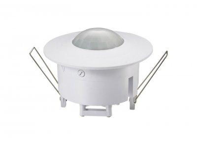 SNS M 03 Электростандарт Датчик движенияДатчики движения для включения освещения<br>Датчик движения SNS M 03 монтируется в любые типы подвесных потолков, а также в гипсокартонные перегородки. Процесс установки датчика аналогичен монтажу точечного светильника. Корпус датчика разработан таким образом, чтобы обеспечить эстетический вид и функциональность. Угол охвата 360° позволяет контролировать движение во всем периметре помещения. Датчик оснащен регулятором уровня освещенности и реле времени.  Макс. мощность нагрузки: 1200 Вт Угол охвата: азимутальный 360°, радиальный 180° Дальность действия: 8 м Таймер отключения: от 10 с до 7 мин Диапазон освещенности: от 3 до 2000 люкс Допустимая влажность: до 93% RH Пылевлагозащищенность: IP20<br>