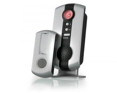 DBQ07M WL 36M IP44 Серебряный Электростандарт Звонок беспроводнойБеспроводные звонки на дверь<br>Количество мелодий: 36 шт.<br> Радиус действия: 100 м Регулятор громкости Световая индикация Режимы работы звонка: 1. звуковой + световой сигналы 2. звуковой сигнал 3. световой сигнал Элемент питания кнопки: 23A 12V Элементы питания звонка: 2 x АА Степень пылевлагозащищенности: IP44 Рабочая температура: –30° ... +50° С Рабочая частота: 433 МГц Размер ресивера (В x Ш x Г): 140 x 60 x 50 мм  Комплектация: ресивер, кнопка, батарейка для кнопки (23A 12V), инструкция по эксплуатации.<br>