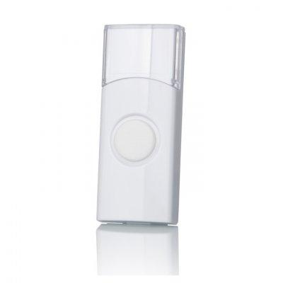 DBB01WL Белый Электростандарт Кнопка для беспроводного зонкаКнопка звонка<br>При необходимости, беспроводные звонки можно оснастить дополнительными кнопками или заменить утерянную.  Данная модель кнопки предназначена для работы с беспроводными звонками Elektrostandard™: DBQ01M, DBQ02M, DBQ03M, DBQ04M, DBQ05M, DBQ06M, DBQ07M, DBQ09M,DBQ10M. Возможна работа с аналогичными моделями, работающими на частоте 433 МГц. Батарейка для кнопки: CR2032  В комплекте: кнопка, батарейка, инструкция.<br>