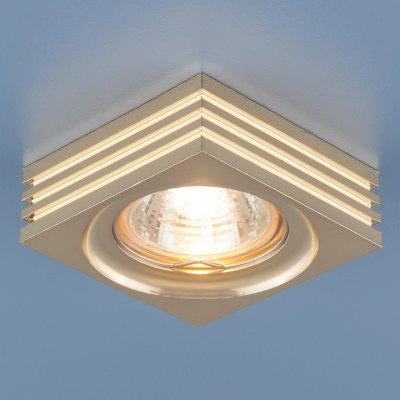 6064 MR16 GD золото Электростандарт Точечный светильникКвадратные встраиваемые светильники<br>Лампа: MR16 G5.3 max 50 Вт Размер: 74 х 74 мм Высота внутренней части: ? 23 мм Высота внешней части: ? 25 мм Монтажное отверстие: ? 60 мм Гарантия: 2 года<br><br>Тип цоколя: gu5.3<br>Ширина, мм: 74<br>Диаметр врезного отверстия, мм: 60<br>Длина, мм: 74<br>Высота, мм: 25<br>MAX мощность ламп, Вт: 50