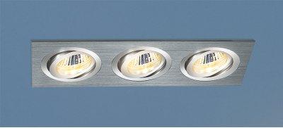 1011/3 CH (хром) Электростандарт Алюминиевый точечный светильникКарданные<br>Лампы: 3 х MR16 G5.3 max 50 Вт Размер: 253 х 93 мм Высота внутренней части: ? 26 мм Высота внешней части: ? 3 мм Монтажное отверстие: 242 х 80 мм Гарантия: 2 года Светильники имеют поворотный механизм Корпус из алюминия<br><br>Тип лампы: галогенная/LED<br>Тип цоколя: G5.3<br>Количество ламп: 3<br>MAX мощность ламп, Вт: 50