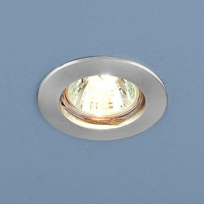 Точечный светильник Электростандарт 863 MR16 SCH хром сатинированный.