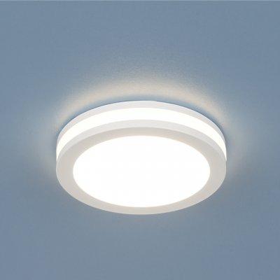 Точечный светильник со светодиодами Электростандарт DSKR80 5W 3300KСветодиодные круглые встраиваемые светильники<br>Этот светильник способен заполнить Вашу комнату ярким светом, при этом экономя Ваши средства на оплату электроэнергии. Высокая степень влагозащиты позволяет использоваться данные светильники в ванных комнатах и других помещениях с повышенной влажностью. Сдержанный дизайн данного светильника дополнен вставкой из акрила, дающего рассеянный свет, благодаря чему Ваш интерьер приобретет ультрасовременный вид, одновременно сохранив ощущение уюта.  <br> Мощность: 5 Вт LED Свет: 3300K Светоотдача: 450 лм Угол рассеивания света: 170° Питание: 220 В 50 Гц Уровень защиты: IP44 Срок службы LED: 50 000 ч Диаметр: ? 80 мм Монтажное отверстие: ? 65 мм Высота внутренней части: ? 25 мм Высота внешней части: ? 14 мм Гарантия: 2 года Корпус из алюминия