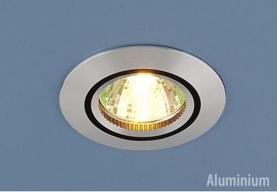 5106 сатин. серебро/черный Электростандарт Алюминиевый точечный светильникКруглые встраиваемые светильники<br>Корпус светильника выполнен из литого под давлением алюминия. Классический строгий дизайн позволяет светильнику лаконично смотреться в любом интерьере. Лампочка в светильнике зафиксирована выворачивающимся диском.<br> Лампа: MR16 G5.3 max 50 Вт Диаметр: ? 78 мм Высота внутренней части: ? 21 мм Высота внешней части: ? 5 мм Монтажное отверстие: ? 65 мм Гарантия: 2 года Корпус из алюминия<br><br>Тип цоколя: gu5.3<br>Диаметр, мм мм: 78<br>Диаметр врезного отверстия, мм: 65<br>MAX мощность ламп, Вт: 50