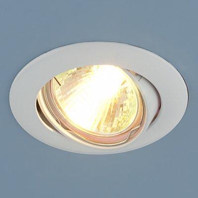 104S WH (белый) Электростандарт Точечный светильникКруглые встраиваемые светильники<br>Лампа: MR16 G5.3 max 50 Вт Диаметр: ? 79 мм Высота внутренней части: ? 20 мм Высота внешней части: ? 4 мм Монтажное отверстие: ? 76 мм Гарантия: 2 года Светильник имеет поворотный механизм<br><br>Тип цоколя: gu5.3<br>Диаметр, мм мм: 79<br>Диаметр врезного отверстия, мм: 76<br>Высота, мм: 4<br>MAX мощность ламп, Вт: 50