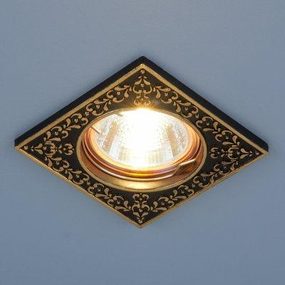 120071 MR16 BK/GD черный/золото Электростандарт Точечный светильник