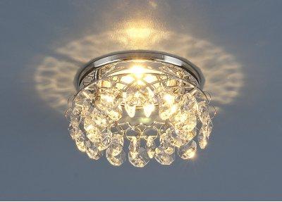7070 MR16 СH/CL хром/прозрачный Электростандарт Точечный светильникВстраиваемые хрустальные светильники<br>Лампа: MR16 G5.3 max 50 Вт Диаметр: ? 100 мм Высота внутренней части: ? 30 мм Высота внешней части: ? 40 мм Монтажное отверстие: ? 55 мм Гарантия: 2 года<br><br>Тип лампы: галогенная/LED<br>Тип цоколя: gu5.3<br>Диаметр, мм мм: 100<br>Диаметр врезного отверстия, мм: 55<br>Высота, мм: 40