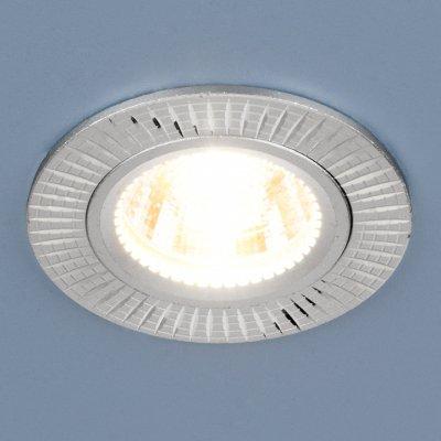 2003 MR16 SL серебро Электростандарт Точечный светильникКруглые<br>Лампа: MR16 G5.3 max 50 Вт Диаметр: ? 78 мм Высота внутренней части: ? 21 мм Высота внешней части: ? 3 мм Монтажное отверстие: ? 60 мм Гарантия: 2 года<br><br>Тип цоколя: gu5.3<br>Диаметр, мм мм: 78<br>Диаметр врезного отверстия, мм: 60<br>Высота, мм: 3<br>MAX мощность ламп, Вт: 50