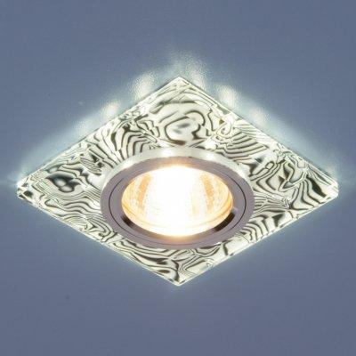 8361 MR16 WH/BK белый/черный Электростандарт Точечный светильник светодиодныйКвадратные встраиваемые светильники<br>Лампа: MR16 G5.3 max 35 Вт + LED Мощность LED подсветки: 3 Вт Размер: 90 х 90 мм Высота внутренней части: ? 16 мм Высота внешней части: ? 12 мм Монтажное отверстие: ? 65 мм Гарантия: 2 года<br><br>Тип цоколя: gu5.3<br>Ширина, мм: 90<br>Диаметр врезного отверстия, мм: 65<br>Длина, мм: 90<br>Высота, мм: 12<br>MAX мощность ламп, Вт: 50