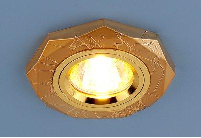 Точечный светильник Электростандарт 2040 GD (золото)круглые точечные светильники<br>Лампа: MR16 G5.3 max 35 Вт Диаметр: ? 96 мм Высота внутренней части: ? 20 мм Высота внешней части: ? 10 мм Монтажное отверстие: ? 65 мм Гарантия: 2 года