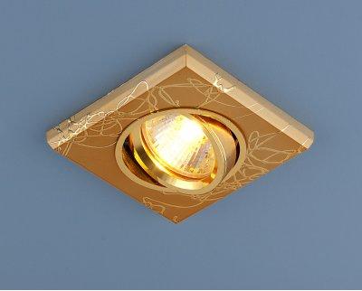2080 GD (золото) Электростандарт Точечный светильник квадратныйКвадратные<br>Лампа: MR16 G5.3 max 35 Вт Размер: 91 х 91 мм Высота внутренней части: ? 20 мм Высота внешней части: ? 10 мм Монтажное отверстие: ? 65 мм Гарантия: 2 года Светильник имеет поворотный механизм<br><br>S освещ. до, м2: до 2<br>Тип лампы: галогенная<br>Тип цоколя: gu5.3<br>Цвет арматуры: золотой<br>Ширина, мм: 90<br>Диаметр врезного отверстия, мм: 65<br>Длина, мм: 90<br>Оттенок (цвет): синий<br>MAX мощность ламп, Вт: 50W
