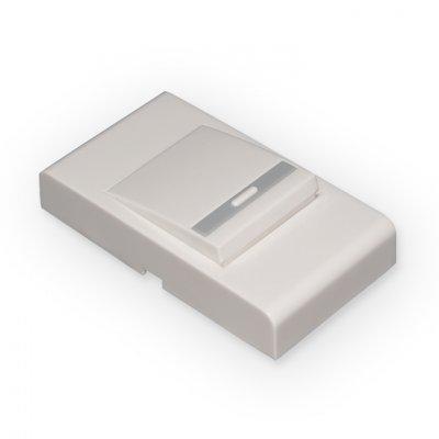DBB03WM Белый Электростандарт Кнопка для проводного звонкаКнопка звонка<br>Технические характеристики: Питание: 220 В / 50 Гц Пылевлагозащищенность: IP44 Рабочая температура: –30° ... +50° С Размер кнопки: 79 х 43 х 20 мм В комплект входят:  кнопка, крепеж,  инструкция.<br>