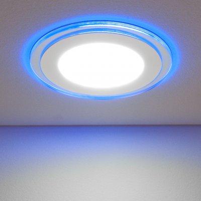 DLKR160 12W 4200K синий Электростандарт Встраиваемый потолочный светодиодный светильникКруглые LED<br>Мощность: 12 Вт Свет: 4200K теплый Светоотдача: 700 лм Угол рассеивания света: 120° Питание: 220 В 50 Гц Срок службы: 50 000 ч Пылевлагозащищенность: IP20 Рабочий диапазон температуры: -20° ... +70° С Диаметр монтажного отверстия: ? 115 мм Размеры: ? 160 х 42 мм Рекомендуемая высота монтажа: от 2,2 до 4 м Встроенная подсветка<br><br>Цветовая t, К: 4200<br>Тип лампы: LED<br>Диаметр, мм мм: 160<br>Диаметр врезного отверстия, мм: 115<br>Высота, мм: 42<br>MAX мощность ламп, Вт: 12