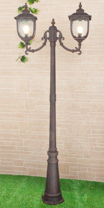 Sculptor F/2 капучино (арт. GLXT-1407F/2) Электростандарт Светильник на столбеУличные фонари с несколькими плафонами<br>Цвет: капучино Цоколь: Е27 Питание: 220 В / 50 Гц Пылевлагозащищенность: IP 44 Мощность: 2 x 60 Вт Размер: 780 х 230 х 2410 мм<br><br>Тип лампы: Накаливания / энергосбережения / светодиодная<br>Тип цоколя: E27<br>Количество ламп: 2<br>Ширина, мм: 230<br>Длина, мм: 780<br>Высота, мм: 2410<br>MAX мощность ламп, Вт: 60