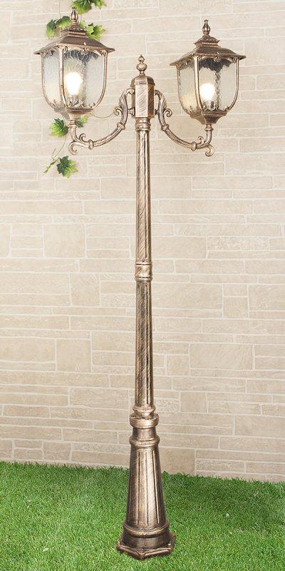 Sculptor F/2 черное золото (арт. GLXT-1407F/2) Электростандарт Светильник на столбеБольшие фонари<br>Цвет: черное золото Цоколь: Е27 Питание: 220 В / 50 Гц Пылевлагозащищенность: IP 44 Мощность: 2 x 60 Вт Размер: 780 х 230 х 2410 мм<br><br>Тип лампы: Накаливания / энергосбережения / светодиодная<br>Тип цоколя: E27<br>Количество ламп: 2<br>Ширина, мм: 230<br>Длина, мм: 780<br>Высота, мм: 2410<br>MAX мощность ламп, Вт: 60